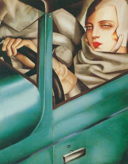 Lempicka_Autorportrait_Bugatti_verte_1929